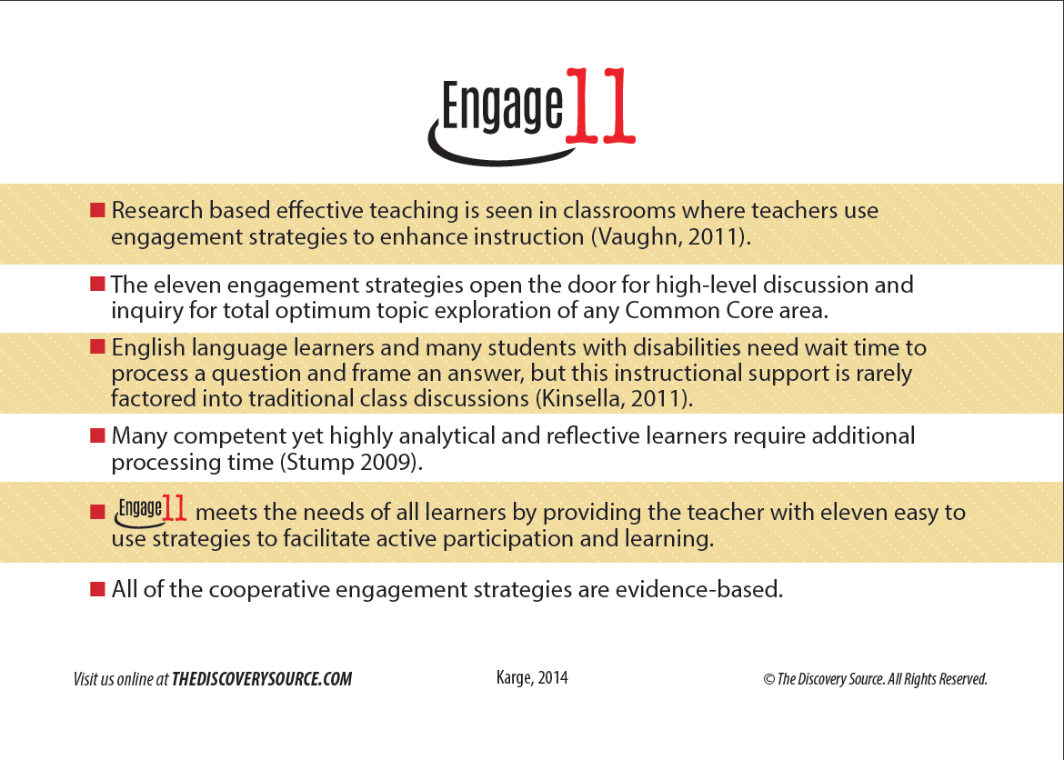 Research Based Strategies To Help >> Engage 11 The Discovery Source