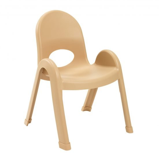 Value Stack 11″ Child chair (4 Pack) – Natural Tan