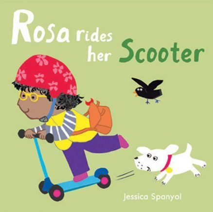 All About Rosa: Rosa rides a Scooter