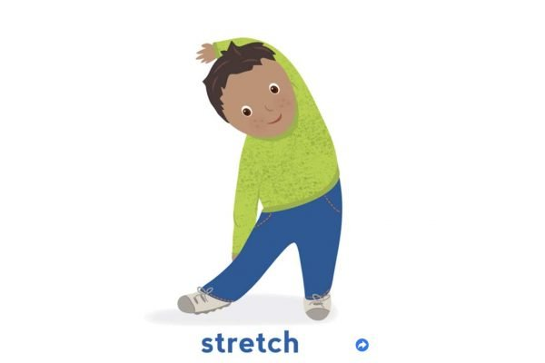 Child stretching. Stretch
