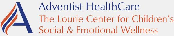 Adventist HealthCare Logo. The Lourie Center for Children's Social & Emotional Wellness